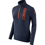 Nike Women's Denver Broncos Element Quarter-Zip Performance Navy Top