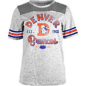 5th & Ocean Women's Denver Broncos Peppercorn Throwback Grey T-Shirt