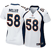 Nike Women's Away Game Jersey Denver Broncos Von Miller #58
