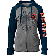 5th & Ocean Women's Chicago Bears Tri-Blend Fleece Grey Full-Zip Hoodie