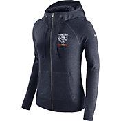 Nike Women's Chicago Bears Gym Vintage Full-Zip Navy Hoodie