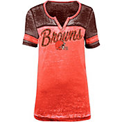 5th & Ocean Women's Cleveland Browns Burnout Orange T-Shirt