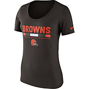 Nike Women's Cleveland Browns Team Scoop Brown T-Shirt