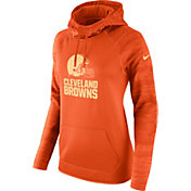 Nike Women's Cleveland Browns Therma-FIT Orange Performance Hoodie