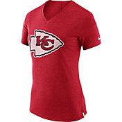 Nike Women's Kansas City Chiefs Fan V Red T-Shirt
