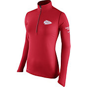 Nike Women's Kansas City Chiefs Tailgate Element Quarter-Zip Red Pullover