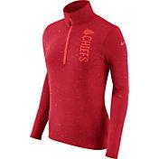 Nike Women's Kansas City Chiefs Element Quarter-Zip Performance Red Top