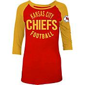 5th & Ocean Women's Kansas City Chiefs Red Raglan Shirt