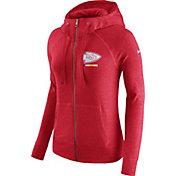 Nike Women's Kansas City Chiefs Gym Vintage Full-Zip Red Hoodie