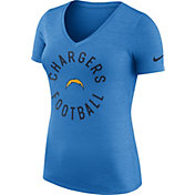 Nike Women's Los Angeles Chargers Dri-FIT Touch Blue Performance T-Shirt