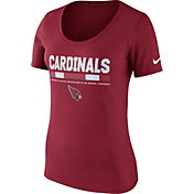 Nike Women's Arizona Cardinals Team Scoop Red T-Shirt