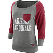 Nike Women's Arizona Cardinals Tailgate Vintage Crew Grey Long Sleeve Shirt