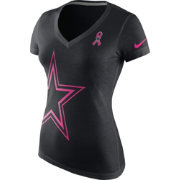 Nike Women's Dallas Cowboys Breast Cancer Awareness 2016 Tri-Blend Black T-Shirt