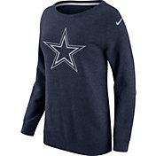 Nike Women's Dallas Cowboys Championship Drive 2016 Navy BF Crew Sweatshirt