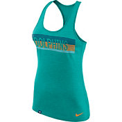 Nike Women's Miami Dolphins Dri-FIT Touch Performance Green Tank Top