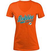 5th & Ocean Women's Miami Dolphins Glitter Orange T-Shirt