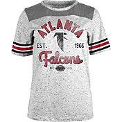 5th & Ocean Women's Atlanta Falcons Peppercorn Throwback Grey T-Shirt