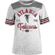 New Era Women's Atlanta Falcons Peppercorn Throwback Grey T-Shirt