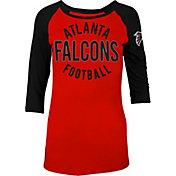5th & Ocean Women's Atlanta Falcons Red Raglan Shirt