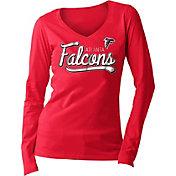 5th & Ocean Women's Atlanta Falcons Long Sleeve Red Shirt