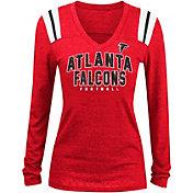 5th & Ocean Women's Atlanta Falcons Tri-Blend Red Long Sleeve Shirt