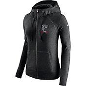 Nike Women's Atlanta Falcons Gym Vintage Full-Zip Black Hoodie