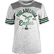 5th & Ocean Women's Philadelphia Eagles Peppercorn Throwback Grey T-Shirt