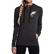 Nike Women's Philadelphia Eagles Gym Vintage Full-Zip Black Hoodie