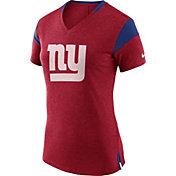 Nike Women's New York Giants Fan V Red T-Shirt
