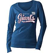 5th & Ocean Women's New York Giants Long Sleeve Blue Shirt
