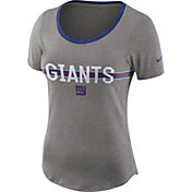 Nike Women's New York Giants Strike Slub Grey T-Shirt