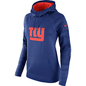 Nike Women's New York Giants Therma-FIT Blue Performance Hoodie