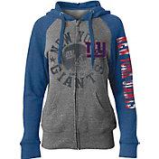 5th & Ocean Women's New York Giants Tri-Blend Fleece Grey Full-Zip Hoodie