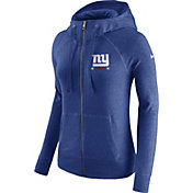 Nike Women's New York Giants Gym Vintage Full-Zip Blue Hoodie