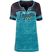 5th & Ocean Women's Jacksonville Jaguars Burnout Green T-Shirt