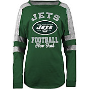 5th & Ocean Women's New York Jets Boyfriend Green Long Sleeve Shirt