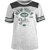5th & Ocean Women's New York Jets Peppercorn Throwback Grey T-Shirt