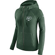 Nike Women's New York Jets Gym Vintage Full-Zip Green Hoodie