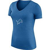 Nike Women's Detroit Lions Dri-FIT Touch Blue Performance T-Shirt