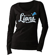 5th & Ocean Women's Detroit Lions Long Sleeve Black Shirt