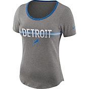 Nike Women's Detroit Lions Strike Slub Grey T-Shirt