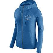 Nike Women's Detroit Lions Gym Vintage Full-Zip Blue Hoodie