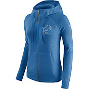 Nike Women's Detroit Lions Gym Vintage Full-Zip Blue Hoodie