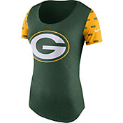 Nike Women's Green Bay Packers 1st String Tri-Blend Green T-Shirt