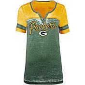 5th & Ocean Women's Green Bay Packers Burnout Green T-Shirt