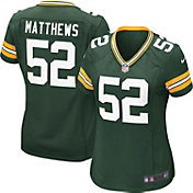 Nike Women's Home Game Jersey Green Bay Packers Clay Matthews #52
