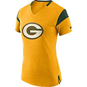 Nike Women's Green Bay Packers Fan V Gold T-Shirt