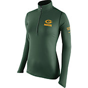 Nike Women's Green Bay Packers Tailgate Element Quarter-Zip Green Pullover