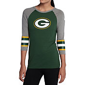 Nike Women's Green Bay Packers Stripe Tri-Blend Green Raglan T-Shirt