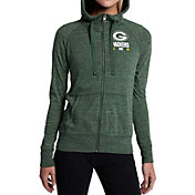Nike Women's Green Bay Packers Gym Vintage Full-Zip Green Hoodie